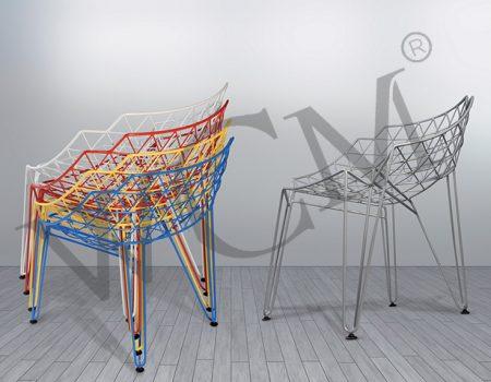 Statik Boyalı Tel Sandalye